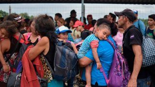 """Does this look like a """"caravan of bad people"""" coming to get white people? Or take over US?"""