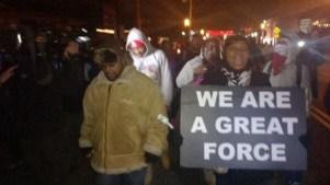 Protestors with No GUNS No Violence