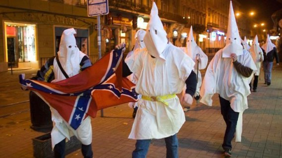 KKK March freely without GUNS Aimed by #Ferguson Police