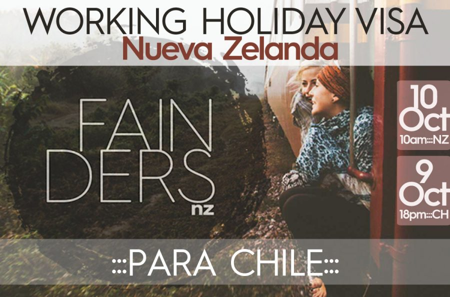 Visa Working Holiday Nueva Zelanda 2017 para Chile