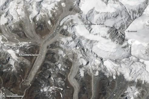 The deadly Khmbu Icefall.