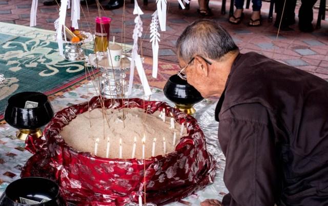 lighting altar khmer new year