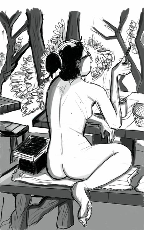 naked lady autodesk sketch