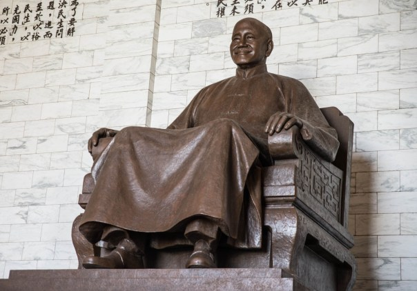 Chiang Kai-shek looking benevolent.
