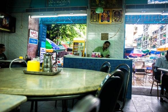 Indian food in Burma.