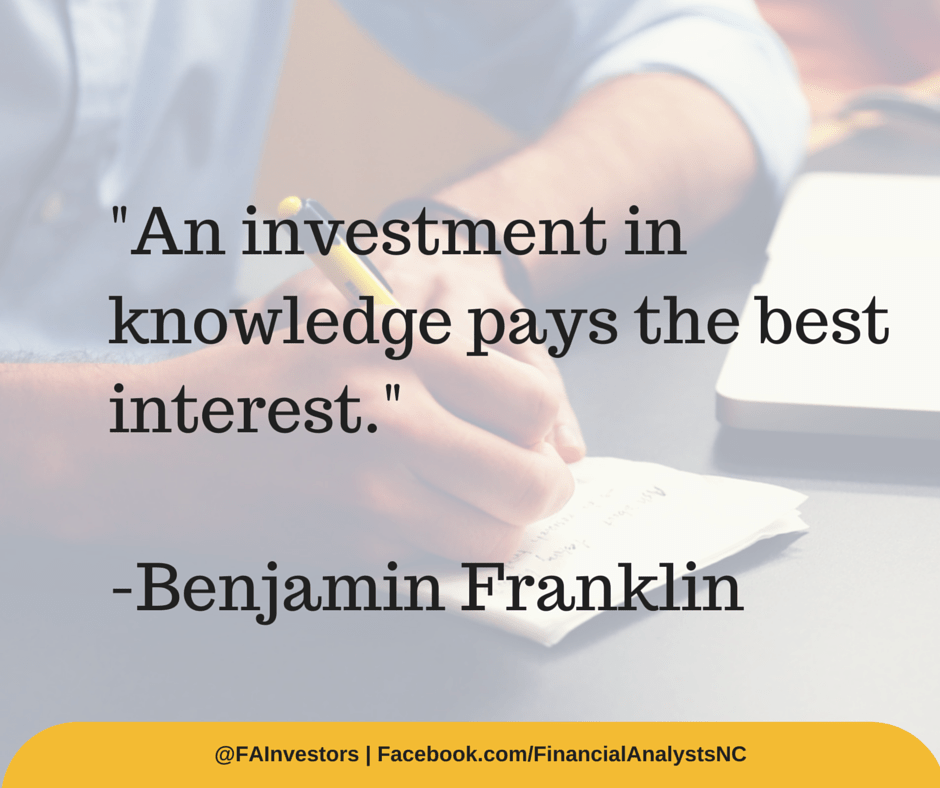Ben Franklin - Investment Quote