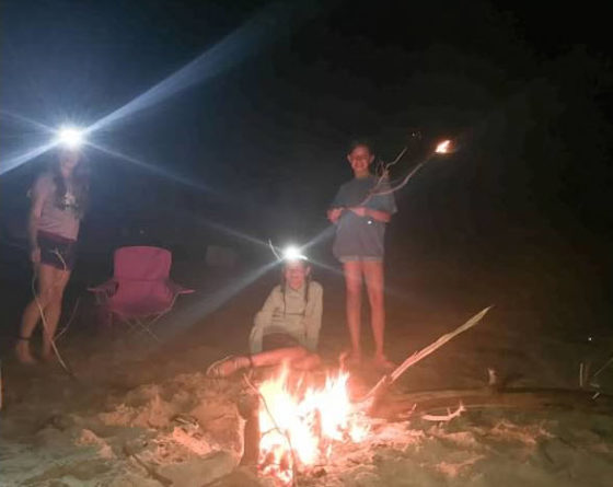 Camping on Shackleford Banks