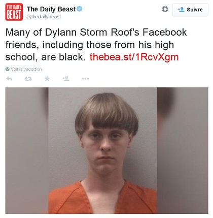 Daily Beast: Many of Dylann Storm Roof's Facebook Friends...Are Black