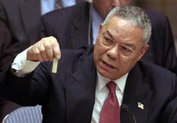 Colin Powell at the UN.
