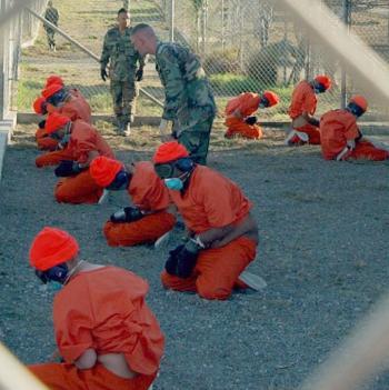 Prisoners at Guantanamo Bay