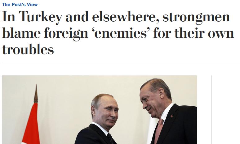 Washington Post: Strongmen Blame 'Foreign Enemies' for Their Own Problems
