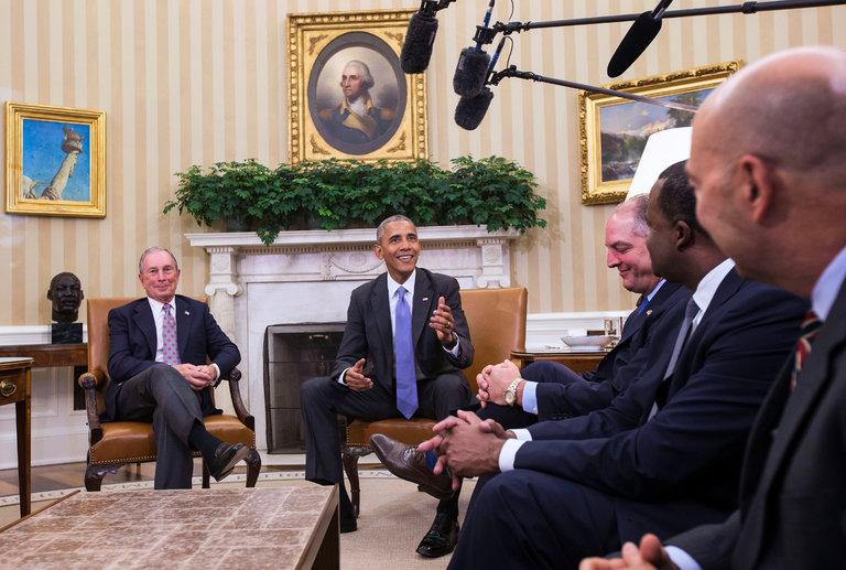 Barack Obama promoting the TPP. (photo: Al Drago/NYT)