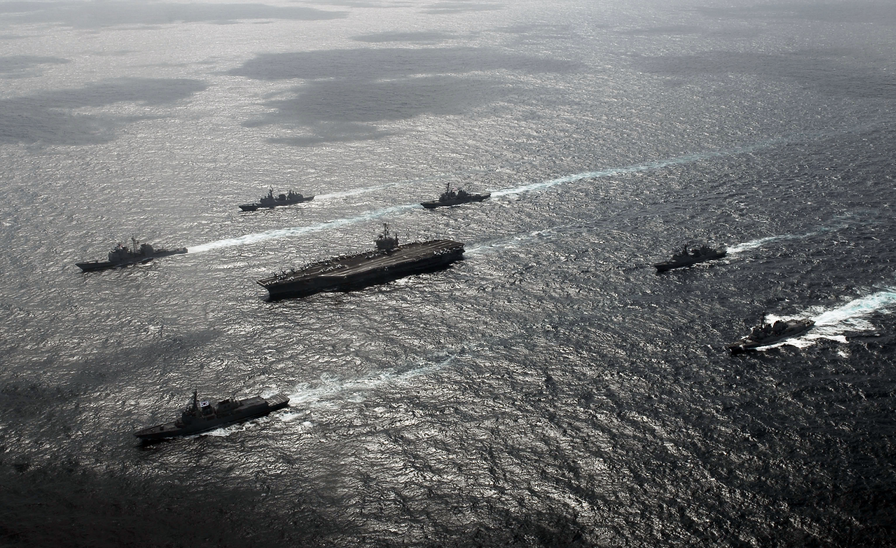 US Navy ships in the 2016 Key Resolve Foal Eagle exercise