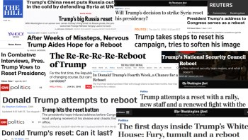 "Trump ""reset"" headlines"