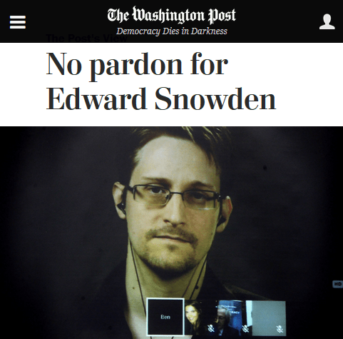 Washington Post: No pardon for Edward Snowden