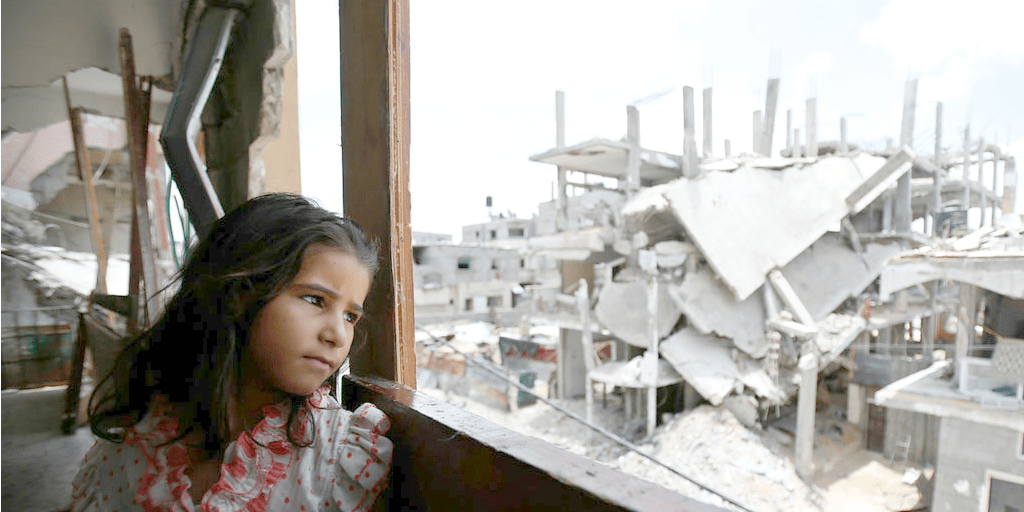 Girl in Gaza (photo: UNICEF)