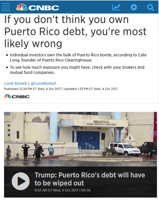 CNBC: If you don't think you own Puerto Rico debt, you're most likely wrong