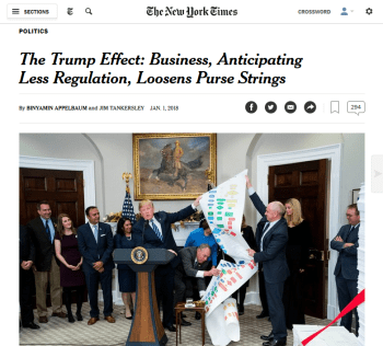 NYT: The Trump Effect: Business, Anticipating Less Regulation, Loosens Purse Strings