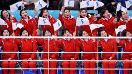 NBC depiction of North Korean Olympic cheerleaders