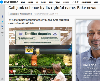 USA Today: Call junk science by its rightful name: Fake news