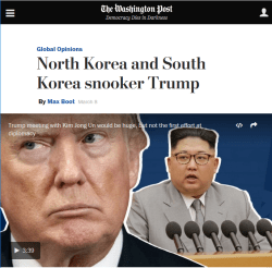 WaPo: North Korea and South Korea snooker Trump