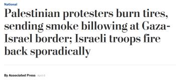 AP: Palestinian protesters burn tires, sending smoke billowing at Gaza-Israel border; Israeli troops fire back sporadically