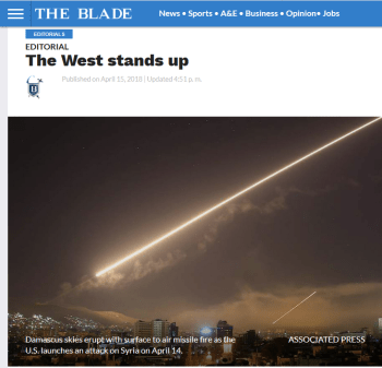 Toledo Blade: The West Stands Up