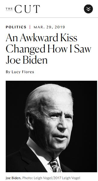 The Cut: An Awkward Kiss Changed How I Saw Joe Biden