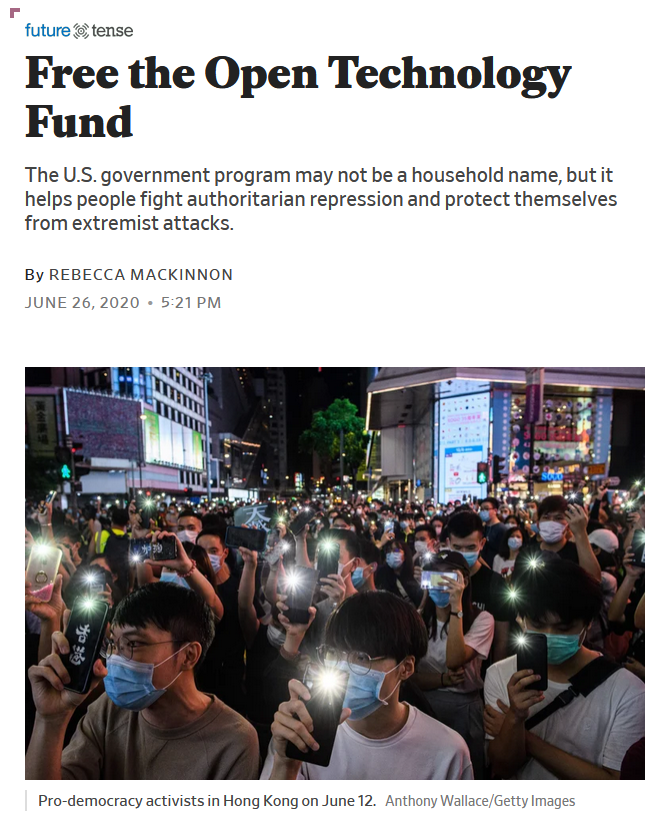 Slate: Free the Open Technology Fund