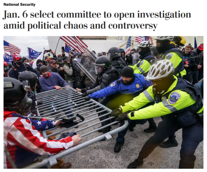 WaPo: Jan. 6 select committee to open investigation amid political chaos and controversy