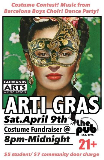 Annual Arti Gras costume party & fundraiser involves a younger audience.