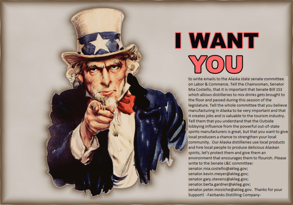 Fairbanks Distilling Needs YOU!