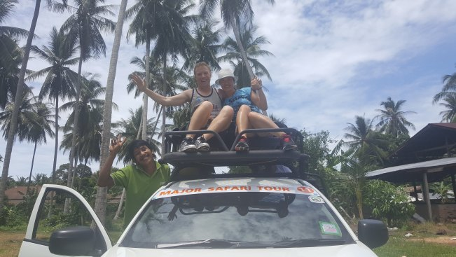 riding on top of the ute