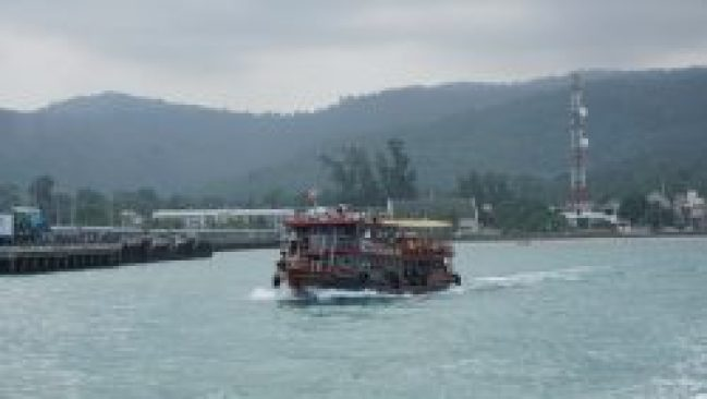 An old cruise ship to get around Samui.