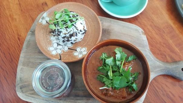 Kangaroo Ragout at Botanical cafe.
