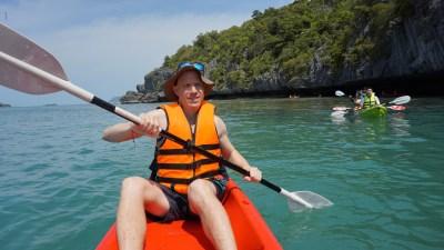 Kayaking Angthong