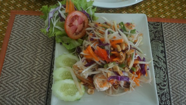 The popular Papaya salad.