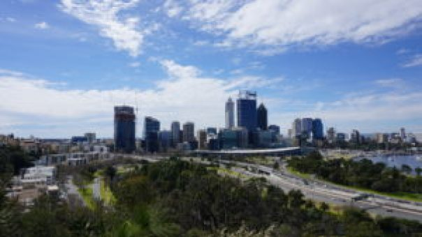 The Beautiful city of Perth, view from Kings Park