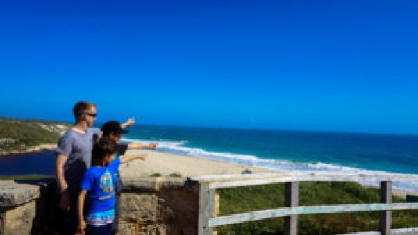 Father time with the boys leads to the Indian Ocean.