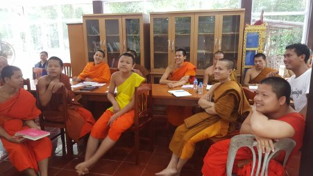 Teaching English to the monks