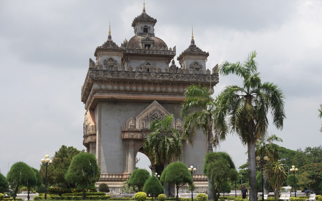 The Patuxai War Monument in Vientiane, Laos