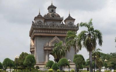The Patuxai War Monument in Vientiane, Laos