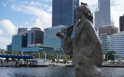 Postcards: Elizabeth Quay in Perth, Western Australia