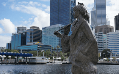 Postcards: Elizabeth Quay in Perth, Western Australia