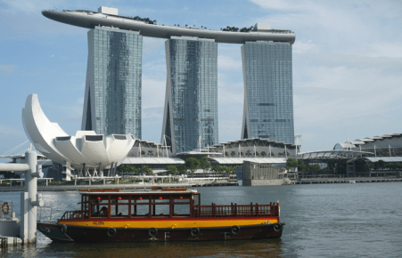 The Marina and Sands SkyPark in Singapore.