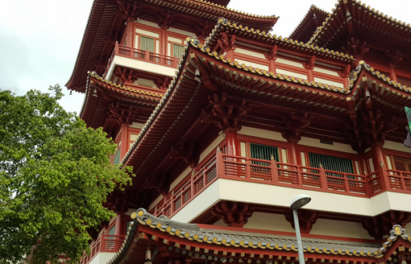 The tooth Relic temple in China town, Singapore.