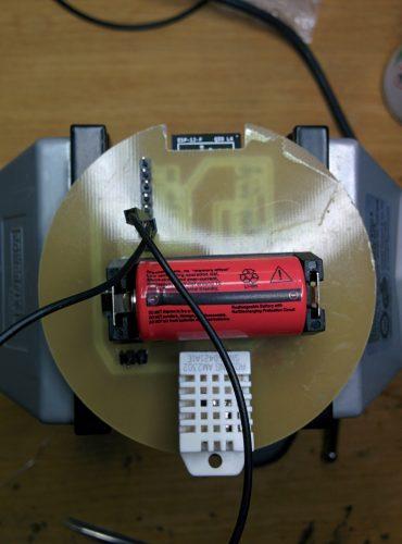 Pile -Capteur de température humidité version 1