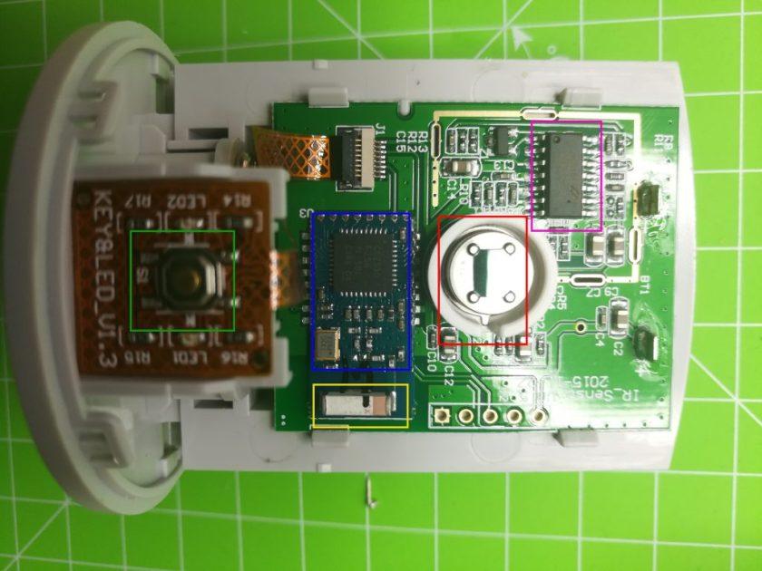 demontage capteur presence electronique