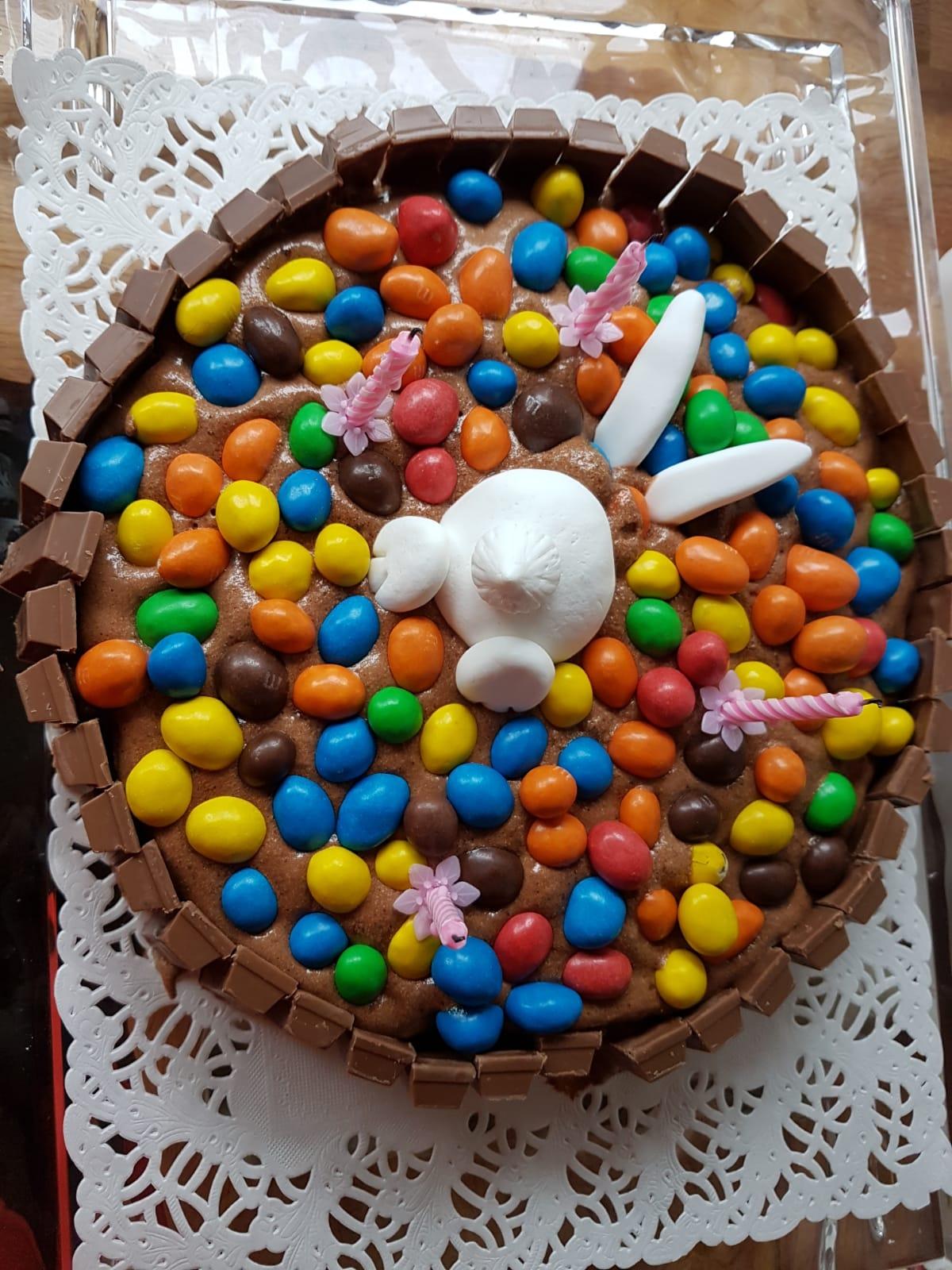 Gâteau d'anniversaire enfant lapin