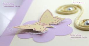 Faire-part thème papillon amaryllis et fleurs